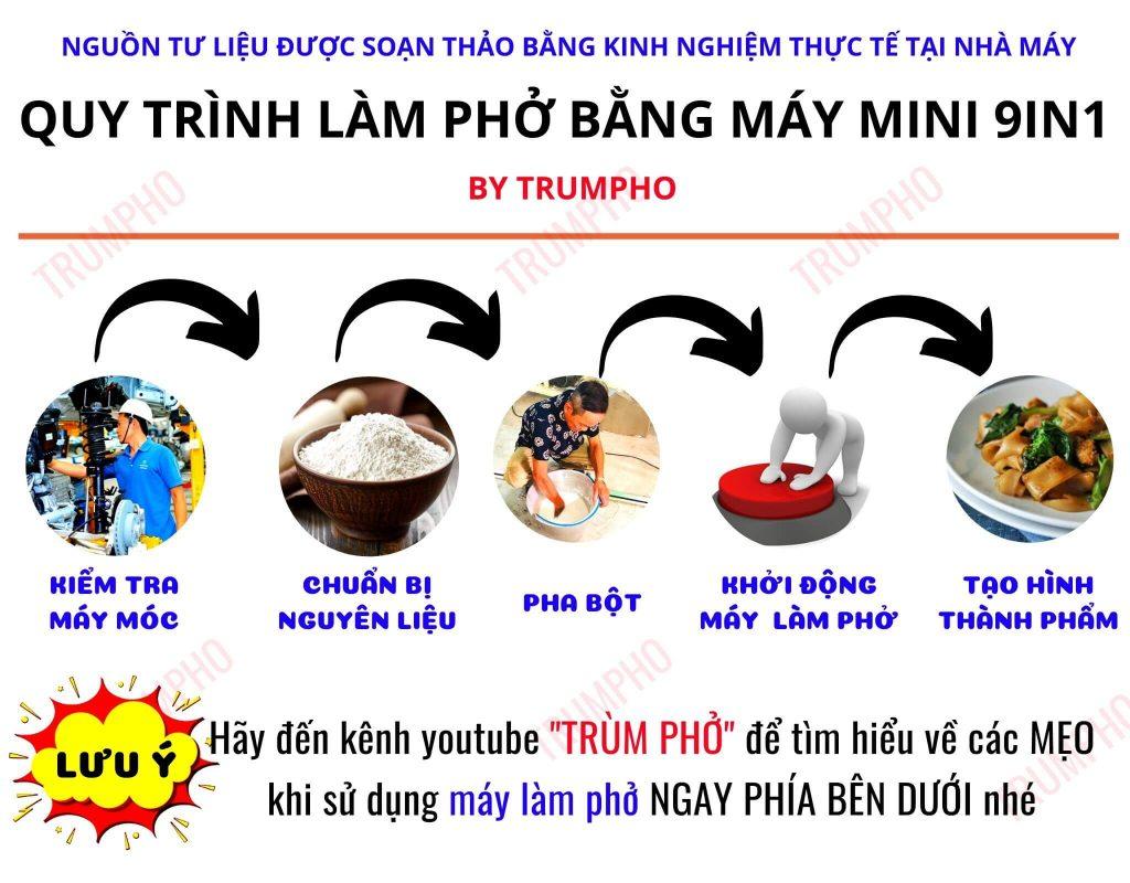 quy trinh lam banh pho bang may lam pho mini 1 1