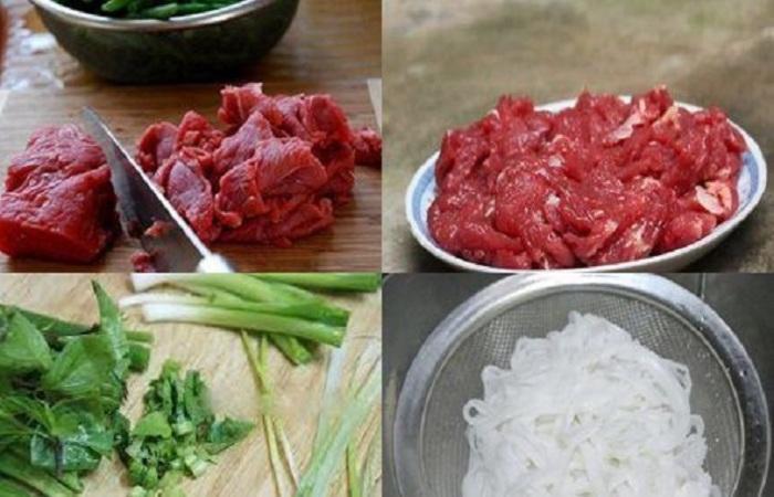 Bạn cần thực hiện sơ chế nguyên liệu khi thực hiện cách nấu phở bò không cần xương