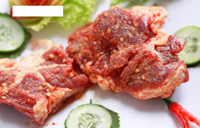 Gầu bò ướp gia vị nấu canh rất ngon