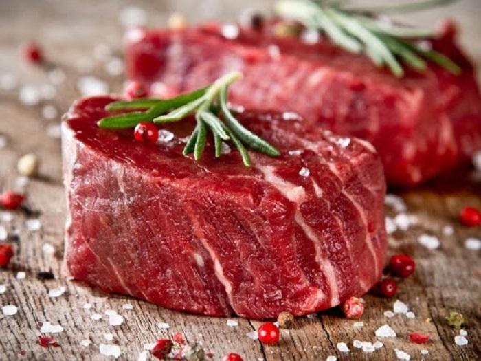 thịt bò xuất hiện ánh cầu vồng
