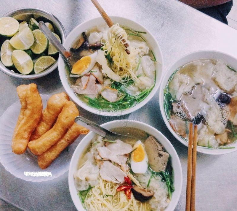 6 tiệm mì hoành thánh ở Hà Nội